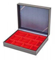 Collection case NERA VARIUS with light red insert with 3 flexible devided compartments – Bild 5