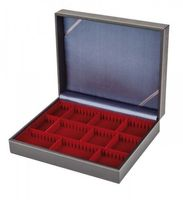 Collection case NERA VARIUS with dark red insert with 3 flexible devided compartments – Bild 3