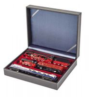 Collection case NERA VARIUS with dark red insert with 3 flexible devided compartments – Bild 2
