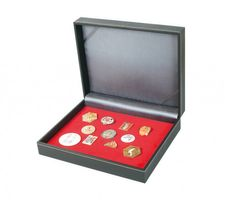 Collecting case NERA VARIUS with light red foam insert for pins,medals and emblems – Bild 1