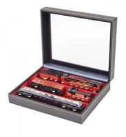 Collection case NERA VARIUS PLUS with light red insert with 3 flexible devided compartments – Bild 2