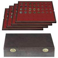 Authentic wood case CARUS with 4 trays for 24 EURO coin sets – Bild 1