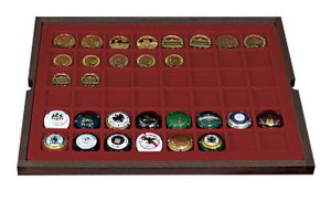 Authentic wood case CARUS with 4 trays for 192 coins/coin capsules up to Ø 30 mm or Champagne capsules – Bild 3