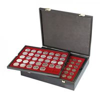 Authentic wood case CARUS with 4 trays for 127 coins with different Ø  – Bild 2