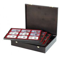Authentic wood case CARUS for 36 US coin capsules (Slabs) up to zu einem Format von 63x85 mm – Bild 1