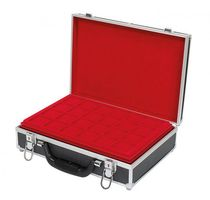Large coin carrying case with 8 trays for 280 coins or coin capsules up to 39 mm Ø – Bild 3
