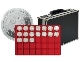 Large coin carrying case with 8 trays for 280 coins or coin capsules up to 39 mm Ø – Bild 1