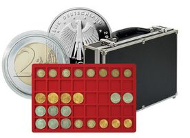 Large coin collection case with 8 coin trays for 320 coins or coin  capsules up to 34 mm Ø – Bild 1