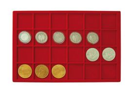 Large coin collection case with 8 coin tablets in 5 different tablet-variations for different coin sizes. – Bild 6