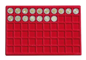 Large coin collection case with 8 coin tablets in 5 different tablet-variations for different coin sizes. – Bild 9