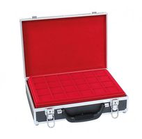 Large coin collection case with 8 coin tablets in 5 different tablet-variations for different coin sizes. – Bild 4