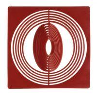 Coin box inserts 67 x 67 mm, dark red, pack of 10 – Bild 1