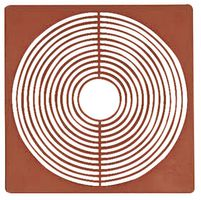 Дистанционные вкладыши 67Х67 мм, тёмно-красного цвета, в комплекте 10 вкладышей – Bild 2