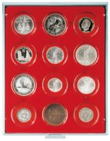 LINDNER Coin box capsule, large, 16 - 51 mm Ø with light red inlett - pack of 10 – Bild 4