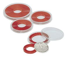 LINDNER Coin box capsule, large, 16 - 51 mm Ø with light red inlett - pack of 10 – Bild 2