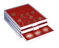 LINDNER Coin box capsule, large, 16 - 51 mm Ø with light red inlett - pack of 10 – Bild 8