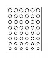 Cadre-Box monnaies  CHASSIS, noir mat, avec box monnaies- gris / plateau bleu pour 6 séries Euro courantes