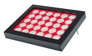 Cadre-Box monnaies  CHASSIS, noir mat, avec box monnaies- gris / plateau rouge vif pour 10 Euro BE – Bild 1