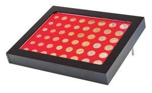 Cadre-Box monnaies  CHASSIS, noir mat, avec box monnaies- gris / plateau rouge vif pour 6 séries Euro courantes – Bild 3