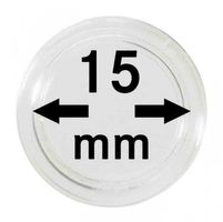 Coin capsules internal Ø 15 mm - pack of 100