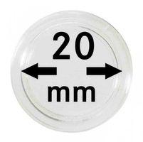 Монетные капсулы с внутренним диаметром 20 мм, в комплекте 100 штук