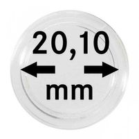 Coin capsules internal Ø 20,1 mm inside height 4,5 mm - pack of 100