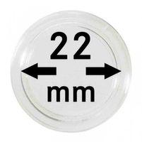 Монетные капсулы с внутренним диаметром 22 мм, в комплекте 100 штук