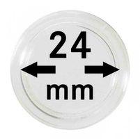 Монетные капсулы с внутренним диаметром 24 мм, в комплекте 100 штук