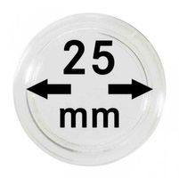 Coin capsules internal Ø 25 mm - pack of 10
