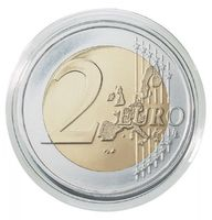 Coin capsules internal Ø 26 mm - pack of 10, e.g. for 2 EURO coins – Bild 2