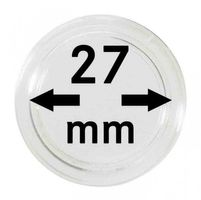 Coin capsules internal Ø 27 mm - pack of 10