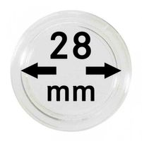 Coin capsules internal Ø 28 mm - pack of 10