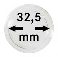 Coin capsules internal Ø 32,5 mm - pack of 10, e.g. for 10 or 20 EURO silver coins GERMANY