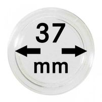 Coin capsules internal Ø 37 mm - pack of 10