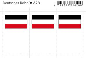 Flag-stickers: Germans Reich, 24 x 38 mm - pack of 6