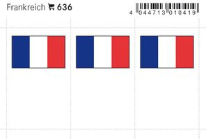 Flag-stickers: France, 24 x 38 mm - pack of 6