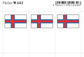 Flag-stickers: Faroe, 24 x 38 mm - pack of 6