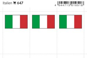 Flag-stickers: Italy, 24 x 38 mm - pack of 6