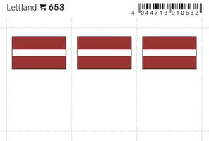 Flag-stickers: Lativa, 24 x 38 mm - pack of 6