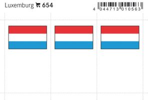 Flaggen-Sticker: Luxemburg, 24 x 38 mm, 6er-Packung