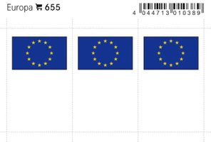 Flag-stickers: Europe, 24 x 38 mm - pack of 6