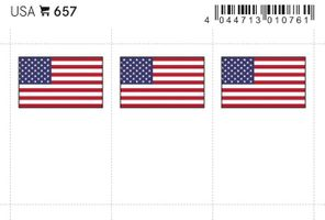 Flag-stickers: USA, 24 x 38 mm - pack of 6