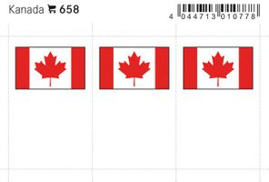 Flag-stickers: Canada, 24 x 38 mm - pack of 6