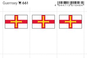 Flag-stickers: Guernsey, 24 x 38 mm - pack of 6