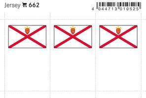 Flag-stickers: Jersey, 24 x 38 mm - pack of 6