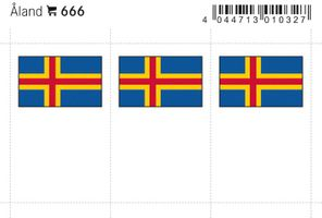 Flaggen-Sticker: Aland, 24 x 38 mm, 6er-Packung