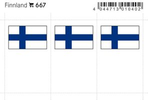 Flag-stickers: Finland, 24 x 38 mm - pack of 6