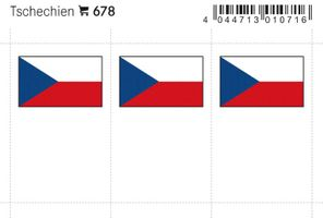 Flag-stickers: Czech Republic, 24 x 38 mm - pack of 6