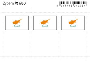 Flag-stickers: Cyprus, 24 x 38 mm - pack of 6