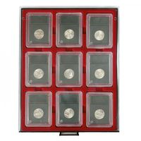 Coin Box SMOKED GLASS for 9 original US coin capsules (slabs) – Bild 2
